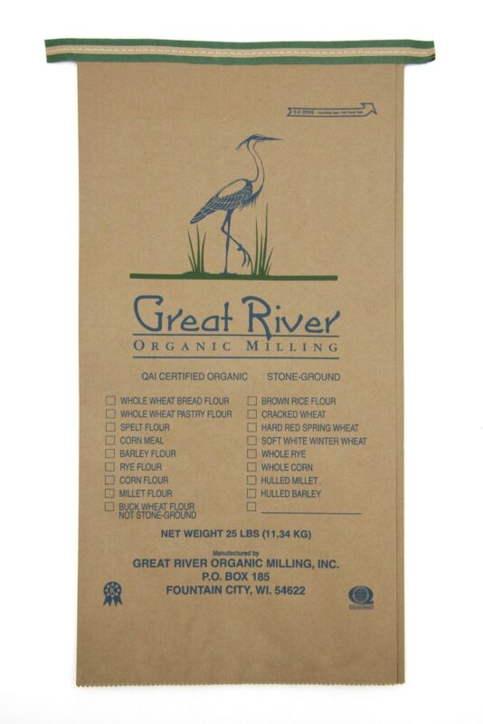 Great River Organic Milling, Specialty Flour, Cracked Wheat, Stone Ground,