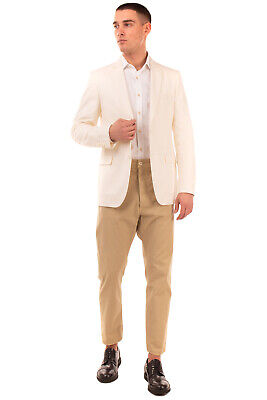 RRP €535 LARDINI Blazer Jacket Size 50 / L Silk Blend Textured Made in Italy