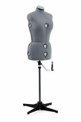 Womens Singer Adjustable Sewing Dress Form Mannequin Mediumlarge Grey