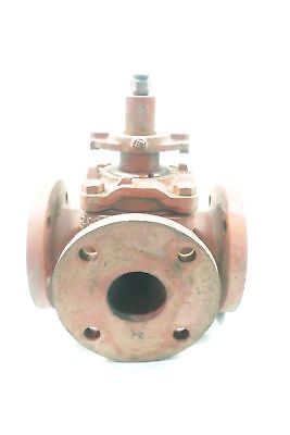 Nordstrom 3-way Manual Flanged 2-12in Plug Valve