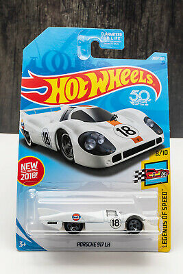 Hot Wheels Porsche 917 LH Firestone M Case Legends of Speed White Fast Ship B04