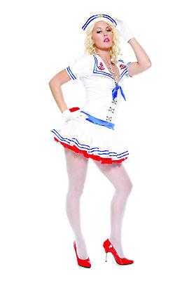 NEW 3pc Sailor Navy Military WWII Army Women Cosplay Halloween Costume Sz XS/S - Navy Costume Women