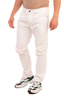 RRP €195 INCOTEX CINQUE Canvas Trousers Size 38 Stretch White Zip Fly Slim Fit