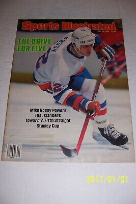 1984 Sports Illustrated NEW YORK Islanders MIKE BOSSY No Label 5th STANLEY CUP?