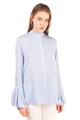 RRP €345 ELLERY Shirt Blouse Size 8 / XS Silk Blend Bell Cuffs Long Sleeve