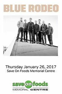 2 FLOOR TICKETS Blue Rodeo - VICTORIA BC January 26 2017
