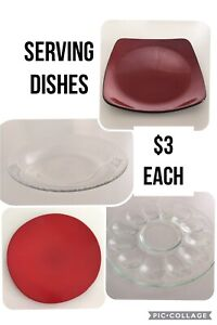 Serving dishes $3 each