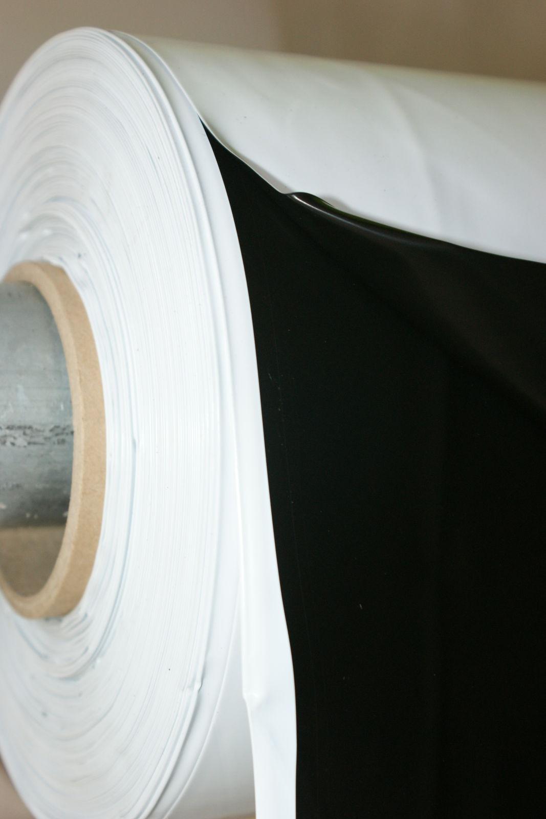 0,50€/m² Breite 4,6,8,10,12 Meter schwarz/weiss Silofolie Abdeckplane Baufolie