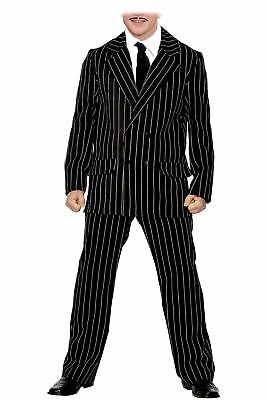 Mens Pinstripe Gomez The Addams Family Halloween Fancy Dress - Gomez Halloween Costume