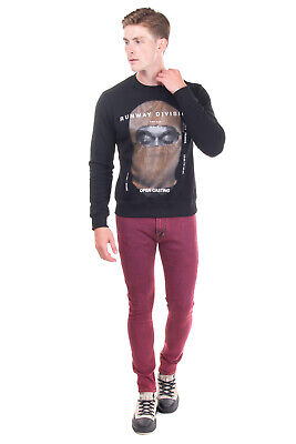 RRP €470 IH NOM UH NIT Sweatshirt Size S Coated 'RUNWAY DIVISION' Made in Italy