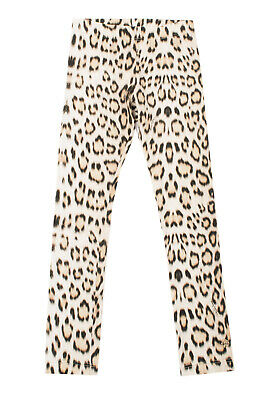 RRP€135 ROBERTO CAVALLI JUNIOR Leggings Size S 14Y Leopard Pattern Made in Italy