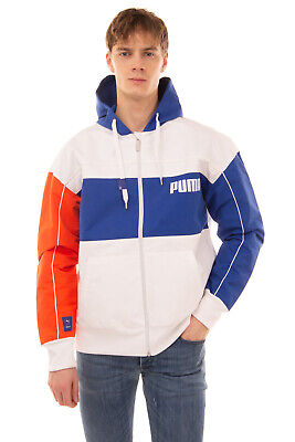 PUMA x ADER ERROR Bomber Style Jacket Size M Mesh Lined Colour Block Hooded