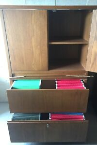 Two piece office set with lateral filing cabinet