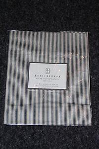 Pottery Barn Ticking Stripe Cotton Cafe Window Valance Blue 44x13 New Curtain Ebay