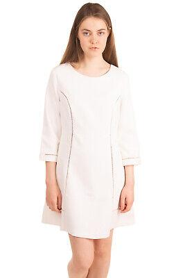 RRP €315 ERMANNO ERMANNO SCERVINO A-Line Dress Size 48 / XL-XXL Openwork Trim