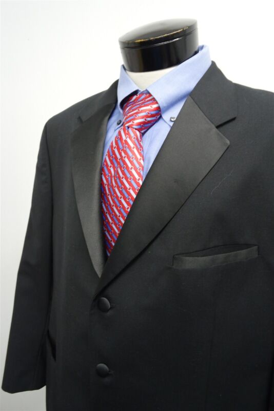 JONES New York black 3 button formal tuxedo jacket coat sz 48R mens #2746