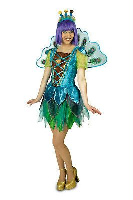 Kostüm Pfau Damen Haarreif Flügel Vogel Kleid Pfauenkostüm - Pfau Kostüm Flügel