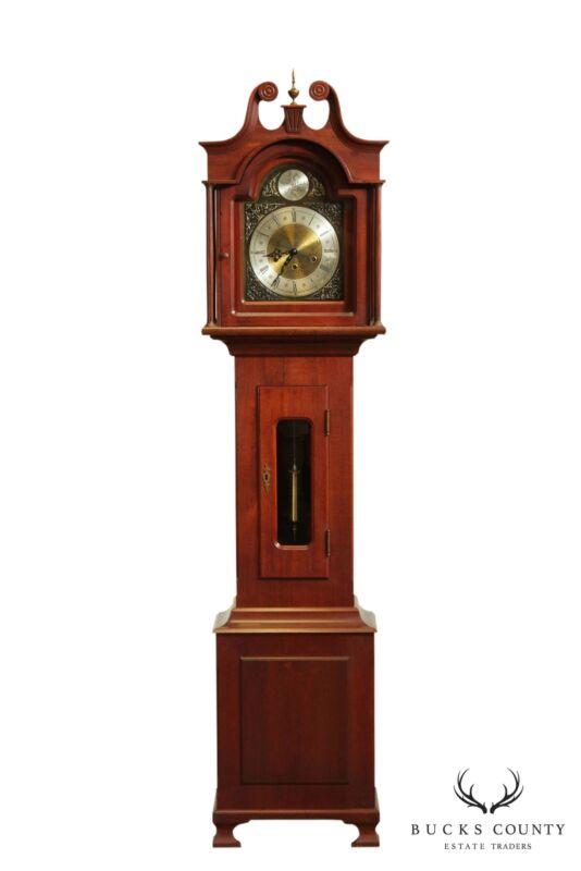 Daneker Vintage Mahogany Grandmother Floor Clock, Style G66