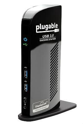 Plugable USB 3.0 Universal Laptop Docking Station for Windows