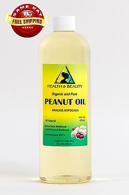 Peanut Oil Refined Organic Carrier Cold Pressed 100% Pure...