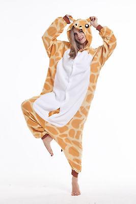 Women Men Unisex Adult Onesie0 Animal Giraffe Kigurumi Pajama Cosplay Costume - Giraffe Costume Men