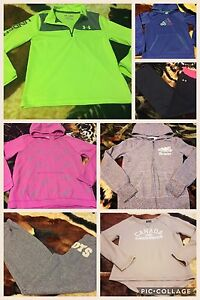 Under Armour, Roots, and Adidas clothing for girls