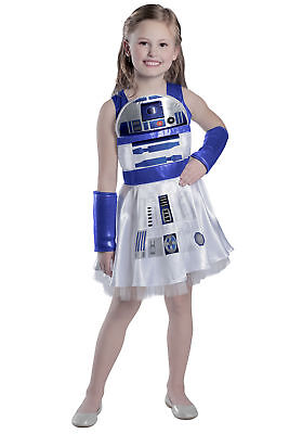 Girls Classic Star Wars R2-D2 Costume Dress Disney Family Toddler Child Group - Group Costumes Girls