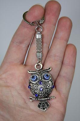 Lucky Owl Blue Evil Eye Key Chain Key Ring Feng -