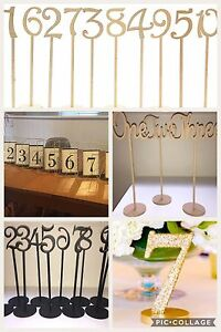 Table numbers available for hire Windsor Brisbane North East Preview