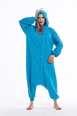 Sesame street Cookie Monster Animal Onesie0 Adult Cosplay Costume Pajamas