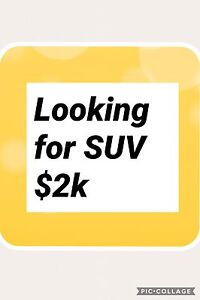 I'm looking for SUV asap