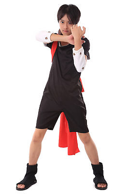 Naruto Shippuden Hidden Cosplay Costume Leaf Chunin Uchiha Sasuke Outfit 2nd (Sasuke Uchiha Shippuden Kostüm)