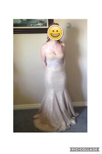 Gold  prom dress for sale
