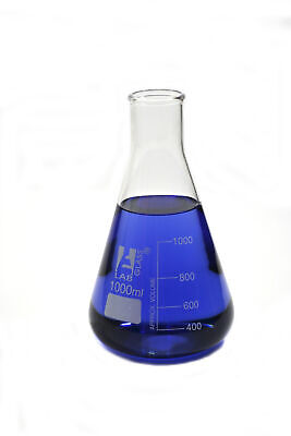Glass Erlenmeyer Narrow Neck Flask 1000ml Borosilicate Single Flask