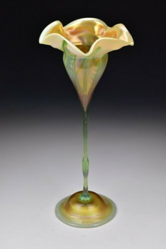 LCT Tiffany Art Glass Floriform Compote Louis Comfort Tiffany