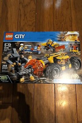 LEGO City Mining Heavy Driller 2018 (60186). New/Sealed. Exc Cond. Free Shipping
