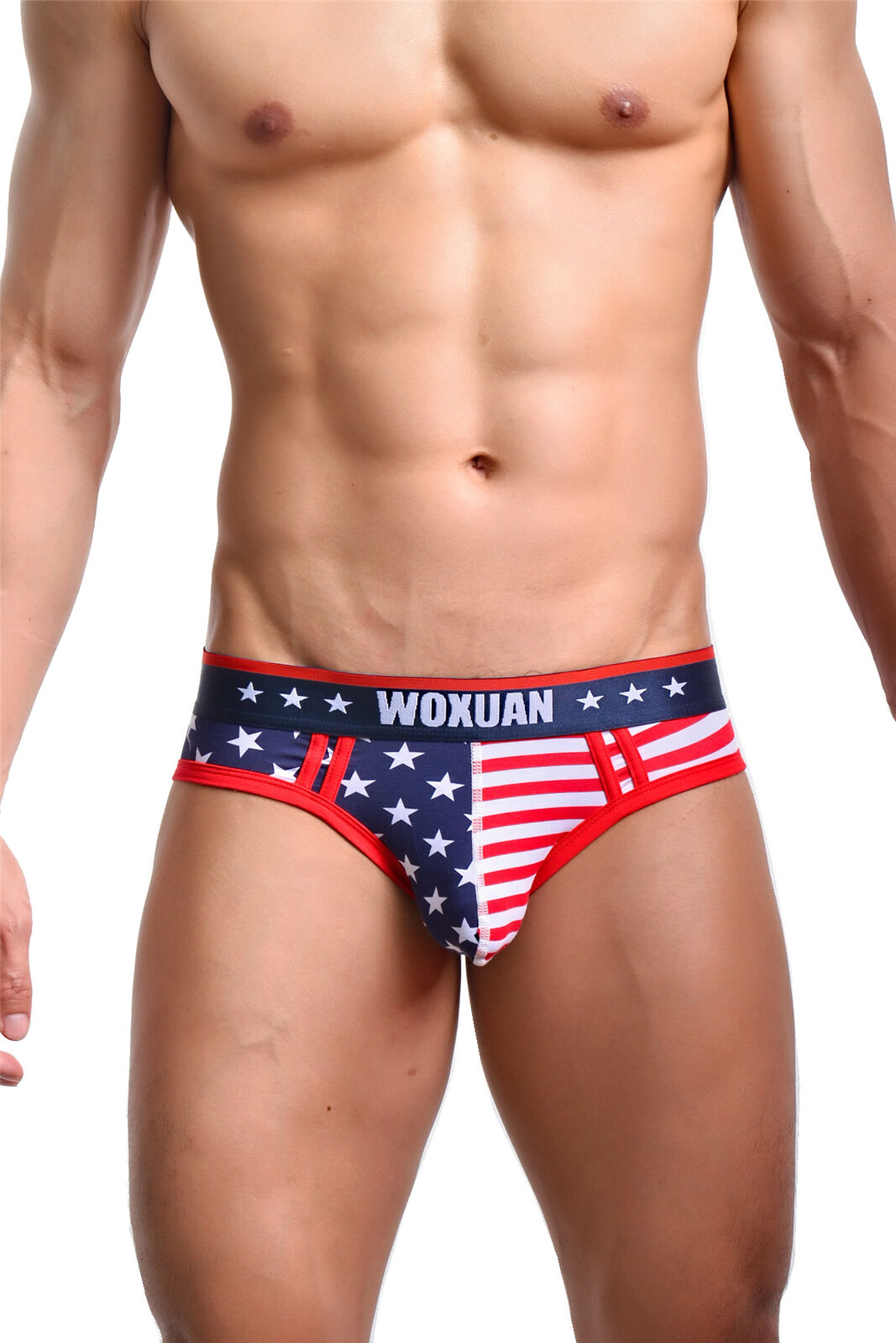 4c0641ac1b34 Mens Vest Leotard Underwear American Flag Printed Sexy Boxer Briefs Shorts  Pants
