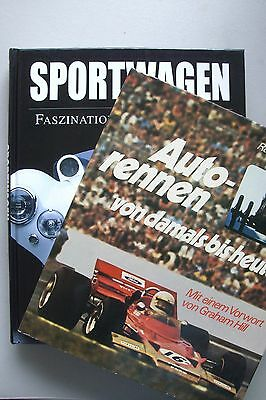 2 Bücher Autorennen von damals bis heute + Sportwagen Faszination Abenteuer