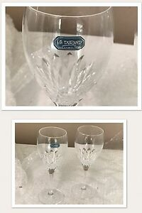 Durand Crystal Wineglasses x 10
