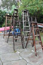 LADDERS TIMBER A FRAME VARIOUS SIZES FROM 153 UP TO 240 CM Frenchs Forest Warringah Area Preview