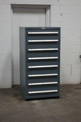 Used Nu-era 8 Drawer Cabinet Industrial Tool Parts Storage 2196 Vidmar