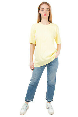 RRP €480 GABRIELA HEARST T-Shirt Top Size M Elbow Sleeve Crew Neck Made in Japan