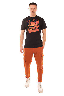 RRP€185 VIVIENNE WESTWOOD MAN T-Shirt Top Size S Coated 'CLIMATE REVOLUTION' Orb