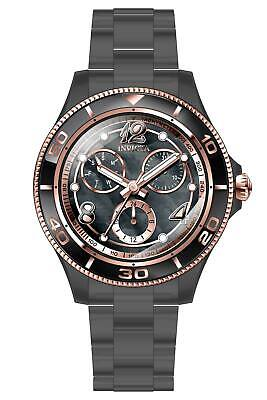 Invicta Women's 30376 Anatomic Quartz 3 Hand Black, Rose Gold Dial Watch
