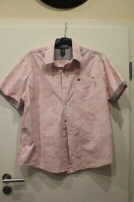 Rosa weiß kariertes Herren Hemd Größe 43 von Lion Vanguard (Rosa Karierte Hemd Herren)