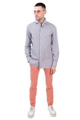 RRP €145 LUIGI BORRELLI NAPOLI Shirt Size 40 / 15 3/4 / M Striped Made in Italy