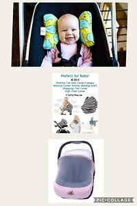 Summer car seat covers/nursing cover, baby elephant ears