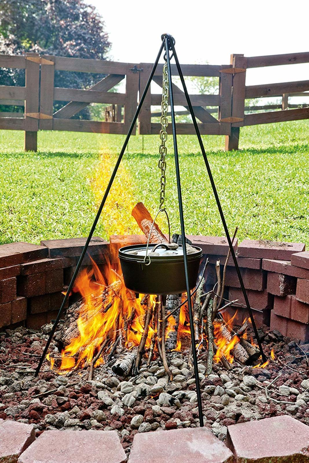 """60"""" Tall Campfire Cooking Tripod Fire Pit Camping Cookware ..."""