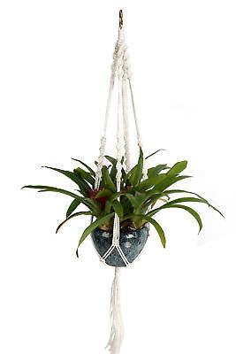 Diy Plant Hanger (DIY 4 Leg Macrame Plant Hanger Holder  Nylon Rope 40 Inch/Bright Ghite)