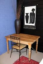 **** ANTIQUE BALTIC PINE TABLE WITH TURNED LEGS **** Bullaburra Blue Mountains Preview